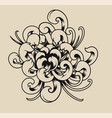chrysanthemum on a light background vector image vector image