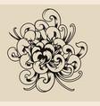 chrysanthemum on a light background vector image