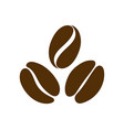 coffee bean icon logo for seed or grain vector image