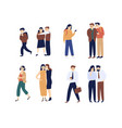 collection of men and women gossiping spreading vector image vector image