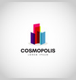 colorful city property cosmopolitan logo vector image vector image