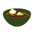 delicious soup of oriental cuisine with cheese vector image vector image