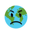 earth globe angry emotion vector image vector image