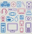 electronic icon set vector image vector image