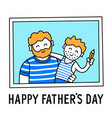 father and son happy fathers day vector image vector image