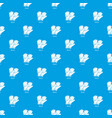 gloves pattern seamless blue vector image vector image