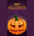 happy halloween concept background cartoon style vector image vector image