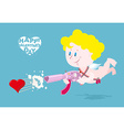 Happy Valentines day Valentine with Cupid Angel vector image