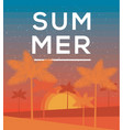 hello summer poster tropic background banner vector image vector image
