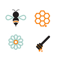 Honeybee And Supplies vector image vector image