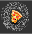 icon of pizza margarita classic italian vector image vector image