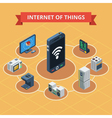 Internet Of Things Isometric vector image vector image