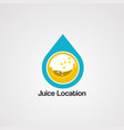 juice location logo templateicon and template vector image