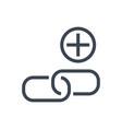 link building glyph icon vector image vector image