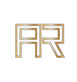 logo letter a r icon letter a and r gold color vector image