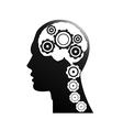 Mechanism of the brain vector image