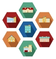 Modern Houses Icons vector image