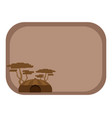 postcard background with an african home vector image vector image