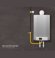 realistic gas water heater boiler composition vector image vector image