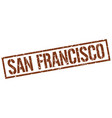 san francisco brown square stamp vector image vector image
