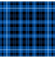 seamless blue tartan - black and white stripes vector image vector image