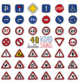 set of doodles road signs vector image