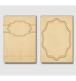 Set of vintage cards invitations or banners vector image vector image