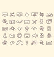 set outline web icons - search engine vector image