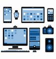 set stylized electronic devices vector image