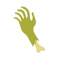 Severed zombie hand vector image vector image