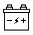 simple black flat accumulator icon lightning bolt vector image vector image