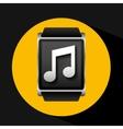 smart watch concept music social media vector image vector image