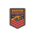 special sniper shield soldier insignia army patch vector image vector image