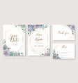 succulent wedding invitation rsvp template vector image
