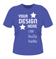 T shirt design with text vector image