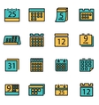 trendy flat line icon pack for designers vector image vector image