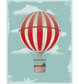 Vintage Retro Hot Air Balloon vector image vector image