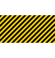 warning striped rectangular background vector image vector image