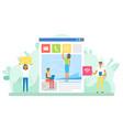 website developers social media posting workers vector image vector image