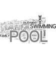 what are the necessary pool supplies text word vector image vector image