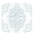 White ornament vector image