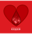world blood donor day background concept vector image vector image