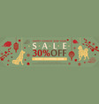 yellow dog horizontal sale banner for chinese new vector image vector image