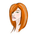 beautiful redhead young girl vector image