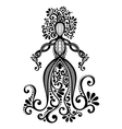 Hand Drawing Silhouette of Floral Goddess vector image