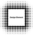 abstract halftone design elements vector image