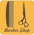 Comb and scissors icon vector image