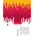 home repairs with roller flat vector image