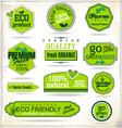 Set of organic labels vector image