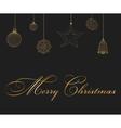 Christmas decoration and gift box vector image